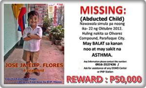 Missing child: Jose Ja-El Flores